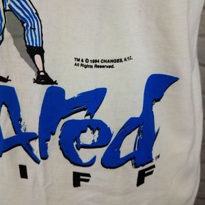 Delta Shirts - Vintage 1994 Scared Stiff Baseball Cartoon Shirt